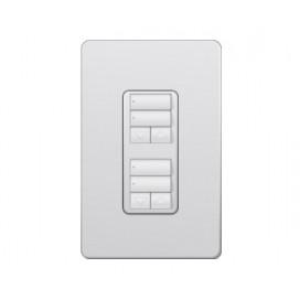 Control de Pared dual 2 Botones con R/L RadioRA2 Colores Satin