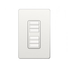 Control de Pared 2 Botones con R/L Doble RadioRA2 Colores Satin