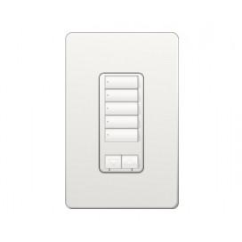Control de pared hibrido 5 botones con R/L y atenuador de 450W RadioRA2 Colores Brillantes