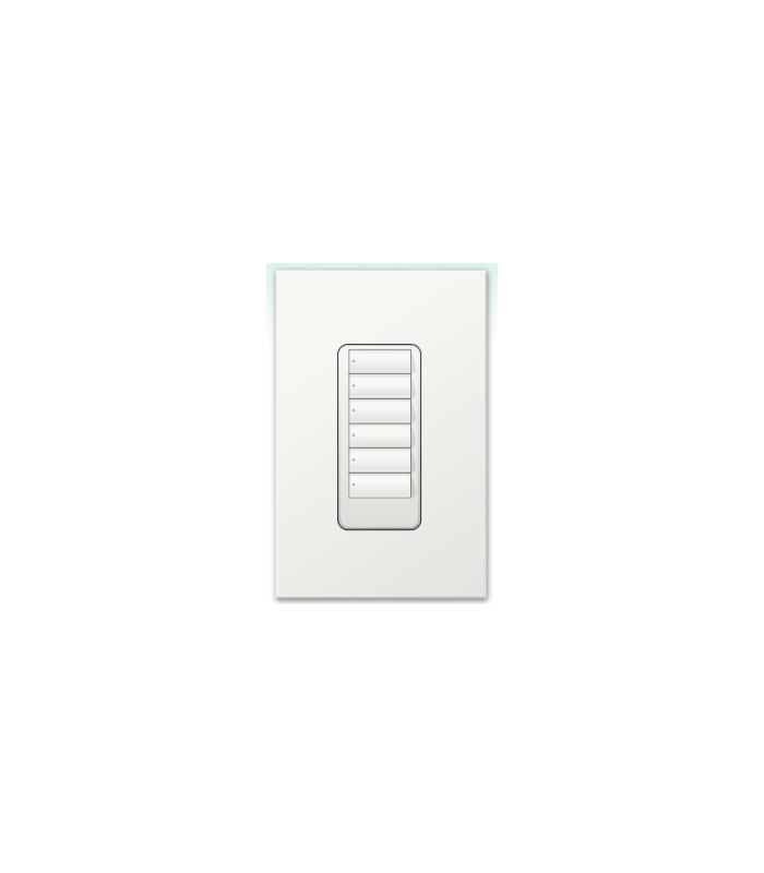 Botonera Lutron Homeworks QS inalambrica 6 botones