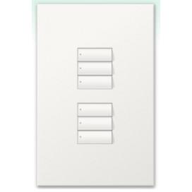 Botonera Homeworks cableada dos grupos de tres botones