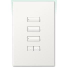 Botonera Homeworks cableada 3 botones con R/L