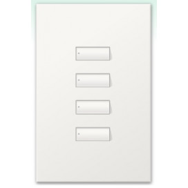 Botonera Homeworks cableada 4 botones