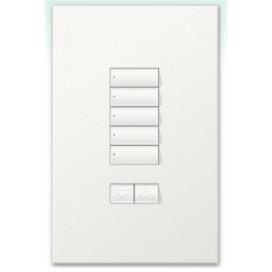 Botonera Homeworks cableada 5 botones con R/L