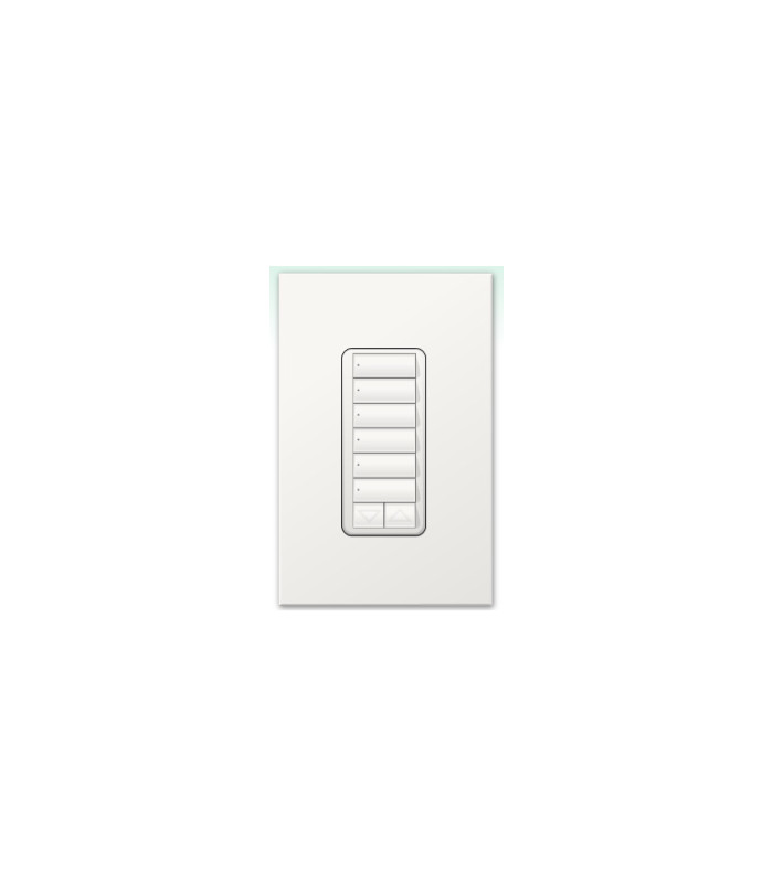 Botonera Lutron Homeworks cableada 6 botones con R/L