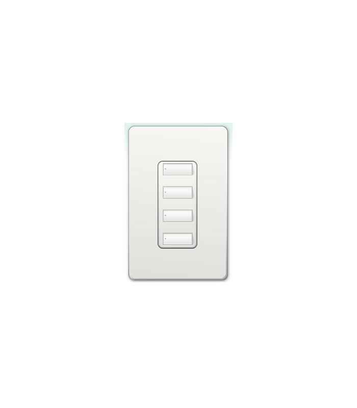 Botonera Lutron Homeworks QS inalambrica 4 botones