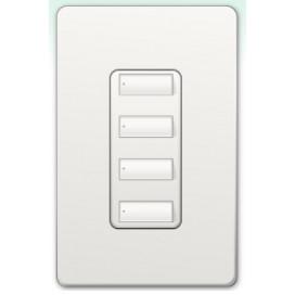 Botonera Lutron Homeworks QS cableada 4 botones
