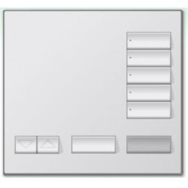 Botonera de mesa Lutron Homeworks 5 botones con apagado maestro y R/L