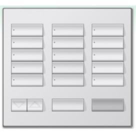 Botonera de mesa Lutron Homeworks 15 botones con apagado maestro y R/L