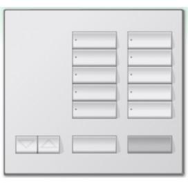 Botonera de mesa Homeworks 10 botones con apagado maestro y R/L