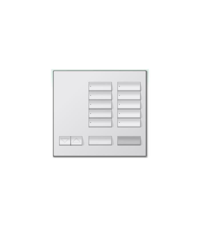 Botonera de mesa Lutron Homeworks 10 botones con apagado maestro y R/L
