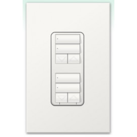 Botonera Lutron Homeworks 2 botones con R/L dual group y atenuador de 450W
