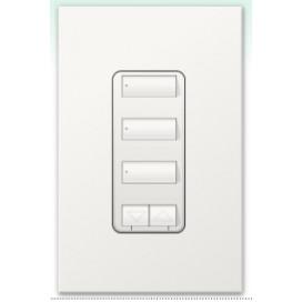 Botonera Lutron Homeworks 3 botones con R/L y atenuador de 450W