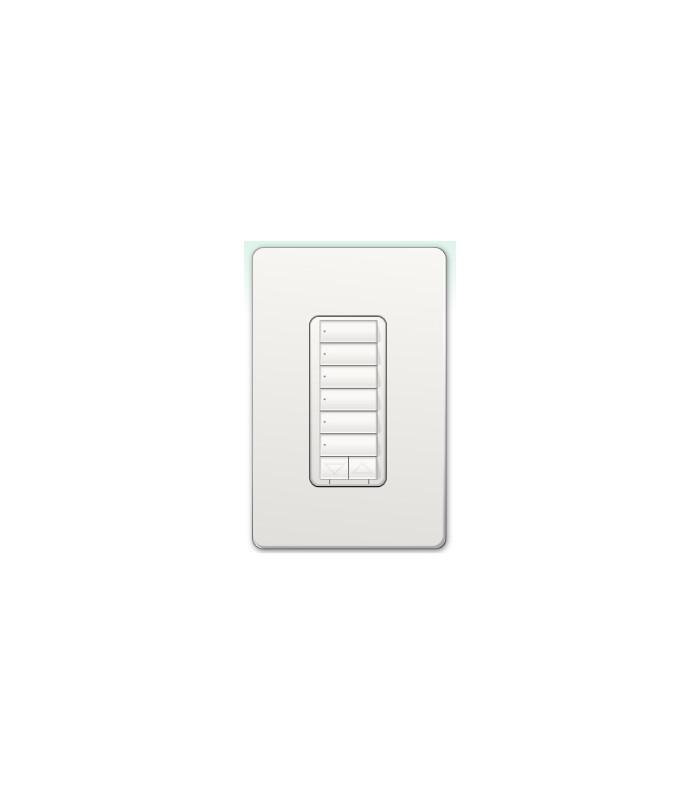 Botonera Lutron Homeworks 6 botones con R/L y atenuador de 450W