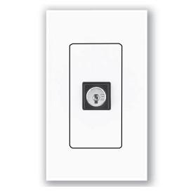 Interruptor de llave Lutron QSWS2 3 posiciones momentaneo con insert WH