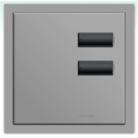 Lutron International seeTouch QS Control de pared 2 botones con insert SC