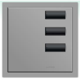 Lutron International seeTouch QS Control de pared 3 botones con insert SC