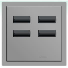 Lutron International seeTouch QS Control de pared 4 botones con insert SC