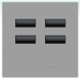 Lutron International seeTouch QS Control de pared 4 botones sin insert SC
