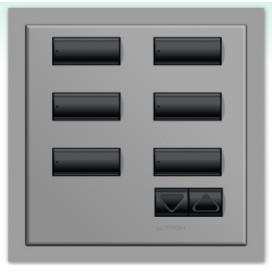 Lutron International seeTouch QS Control de pared 6 Botones con R/L con insert SC