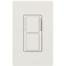 MAESTRO Dual Atenuador/Interruptor Blanco en Empaque blister