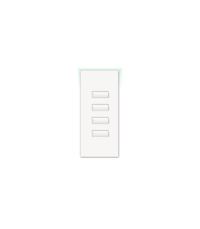 Kit para botonera Architrave 4 botones espaciado