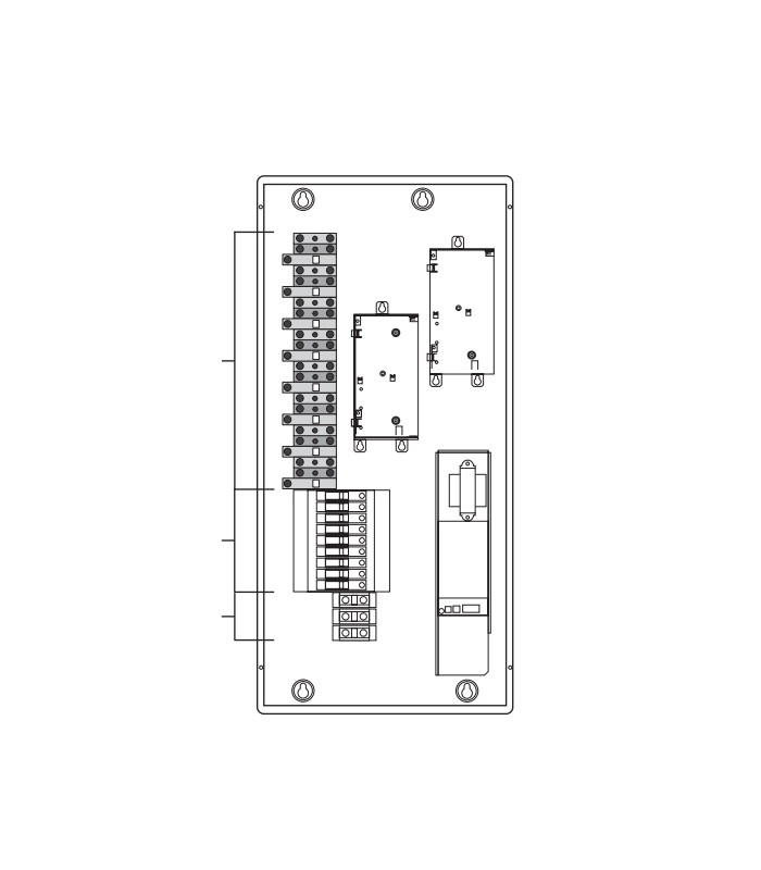 20A integrated breakers - accepts 1-phase, 4-wire feed
