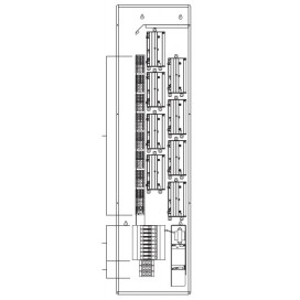 15A integrated AFCI breakers - accepts 3-phase 4-wire feed