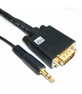 Cables SOLIDVIEW macho - macho VGA + cable audio 3.5mm 3.0 Mts.
