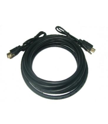 Cables HDMI SOLIDVIEW + mini plug de audio estereo de 3.5 4.5 Mts.