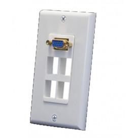 Placa de Pared 4 agujeros con conector VGA