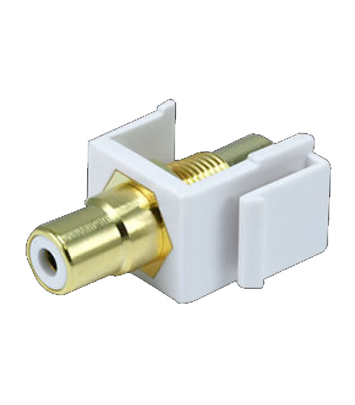 Keystone Jack Modular RCA (Blanco)Keystone Jack Modular RCA (Blanco)