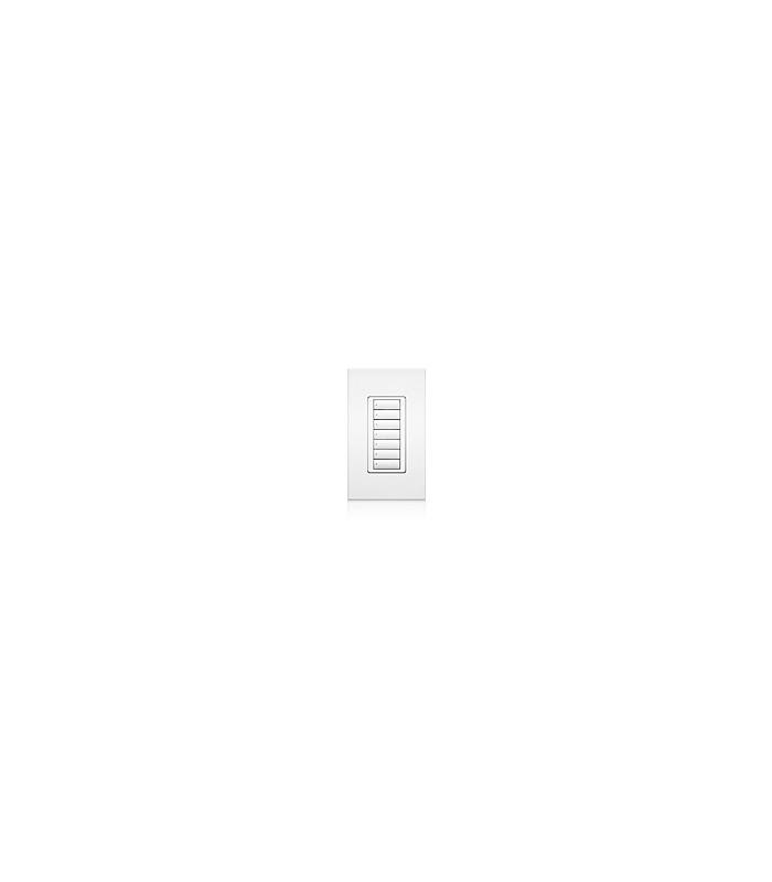 Lutron QSWS2 Control de pared 7 Botones con insert WH
