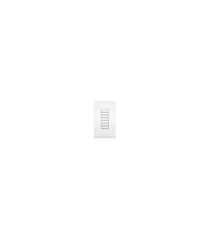 Lutron QSWS2 Control de pared 7 Botones sin insert WH