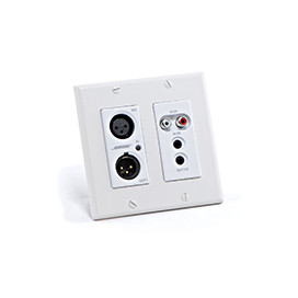 Placa de pared ControlSpace® WP22BU-D Dante™ (2 XLR, 2 RCA, 3.5mm)
