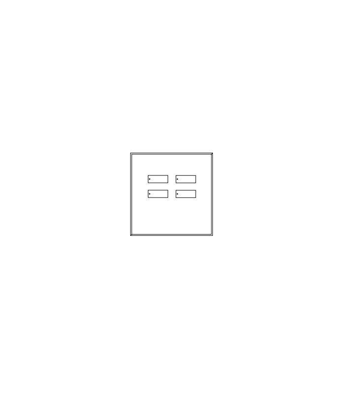 Placa de vidrio para botonera 4B green glass