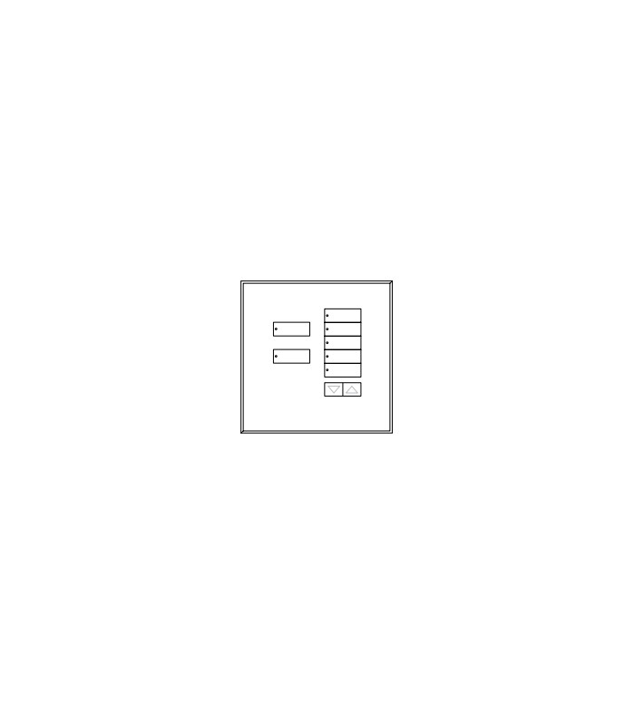 Placa de vidrio para botonera 7BRL