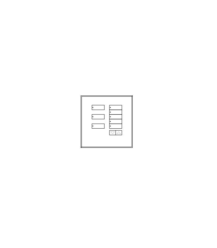 Placa de vidrio para botonera 8BRL