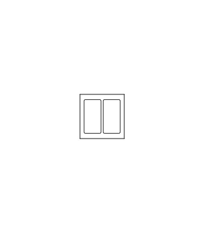 Placa de vidrio para botonera pico 2 ventanas green glass