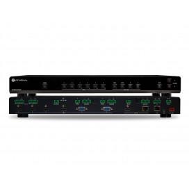 Switcher Multiformato 4K/UHD 6 entradas con salida HDMI/HDBaseT en espejo PoE y Auto Switching