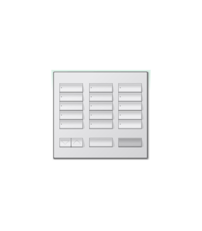 Placa decorativa botonera 15 botones SATIN COLORS con grabado