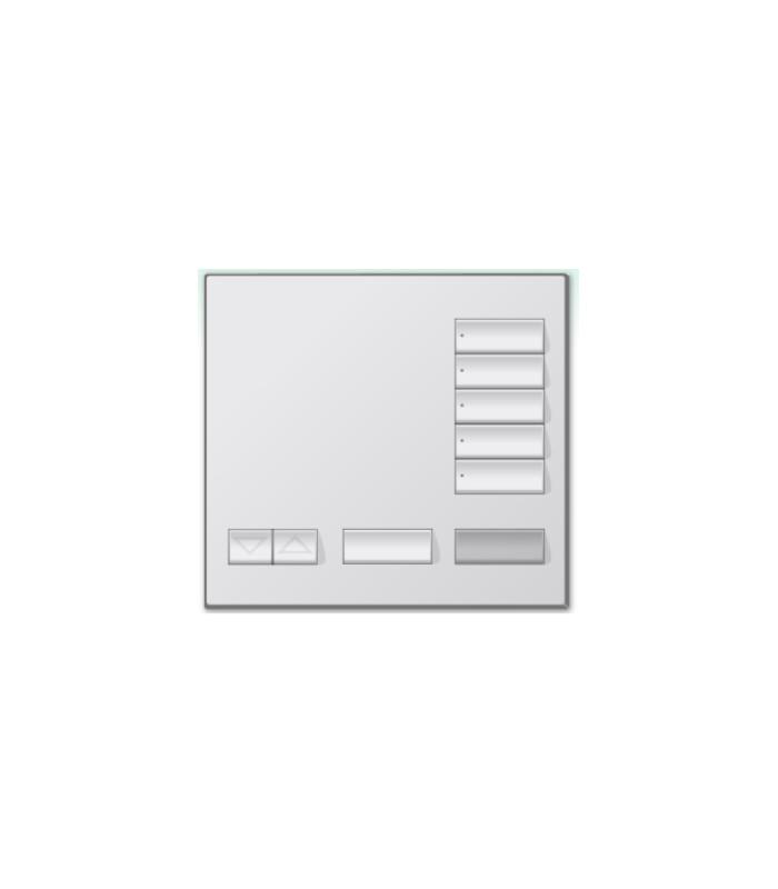 Placa decorativa botonera 5 botones SATIN COLORS