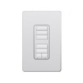 Control de pared doble con R/L y Atenuador de 450W RadioRA2 Colores Satin