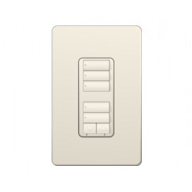 Control de pared doble con R/L y Atenuador de 450W RadioRA2 Colores Brillantes