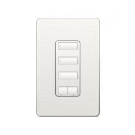 Control de pared 3 botones con R/L y atenuador de 450W RadioRA2 Colores Brillantes