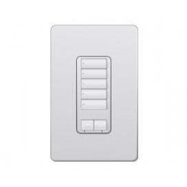 Control de pared hibrido 5 botones con R/L y atenuador de 450W RadioRA2 Colores Satin