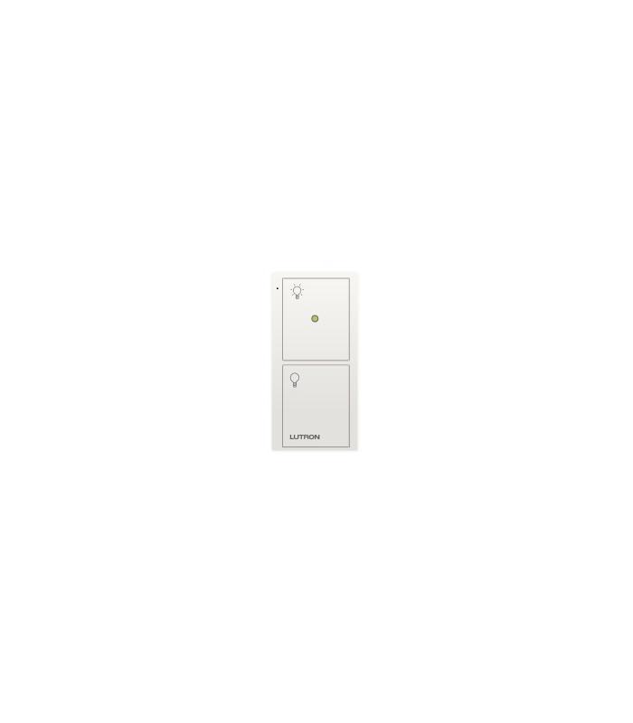 Control Lutron Pico wireless (grabado iconos light) 2 Botones + luz nocturna