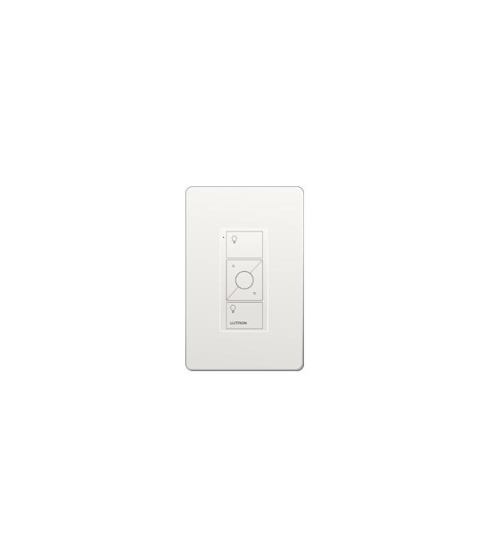 Control Lutron Pico wired (grabado iconos light) 3 Botones + RL color WH