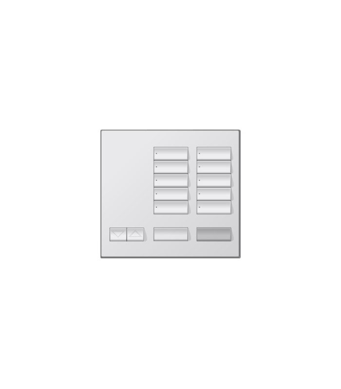 Placa decorativa botonera de 10 botones Metales