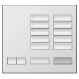 Placa decorativa botonera de 10 botones Metales con grabado